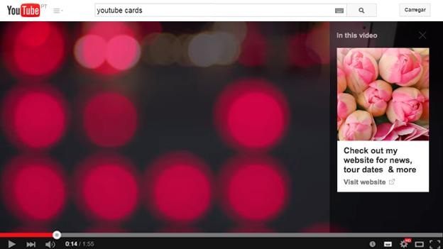 YouTube Cards: mais uma nova funcionalidade